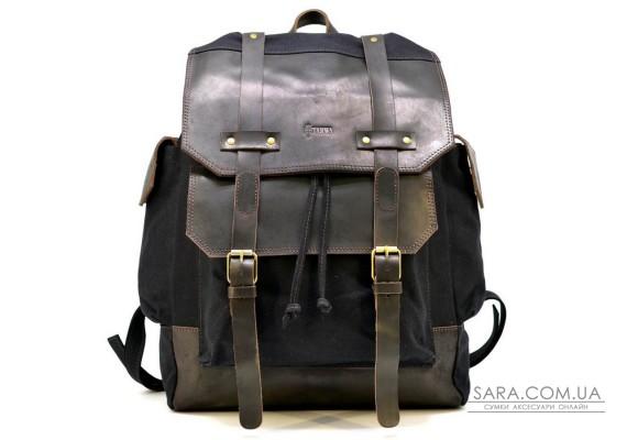 Рюкзак міський, мікс канвас і шкіри RAc-6680-4lx TARWA