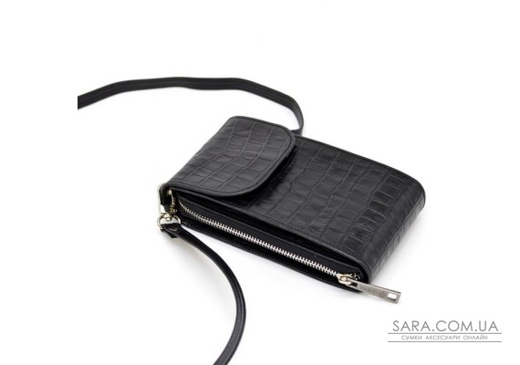 Кожаная женская сумка-чехол REP1-2123-4lx TARWA, чёрная
