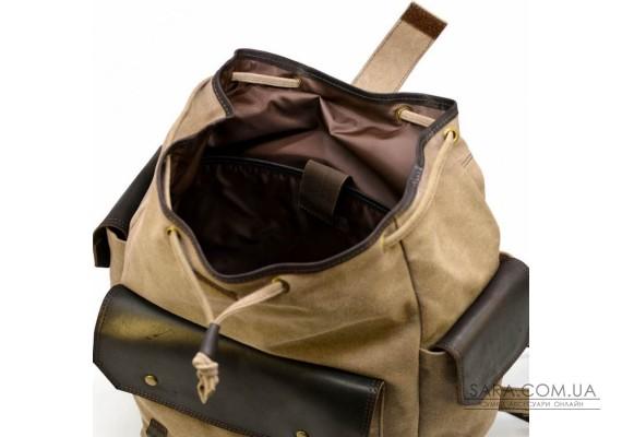 Міський рюкзак Урбан в комбінації тканина + шкіра RSc-6680-4lx TARWA