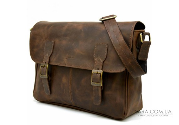 Шкіряна сумка через плече для ноутбука і документів RC-7022-3md TARWA