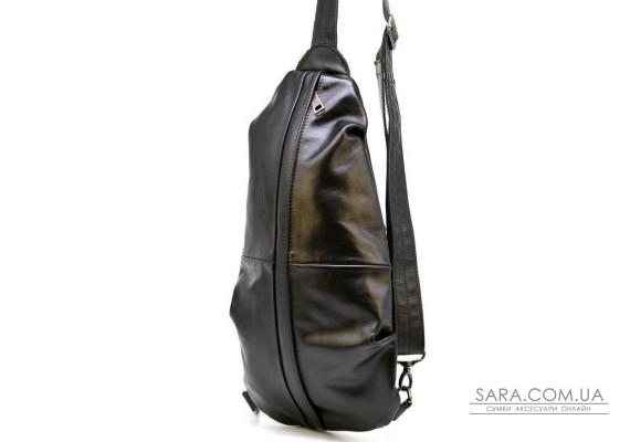Рюкзак-слінг на одне плече з натуральної шкіри TARWA Govard GA-0705-3md