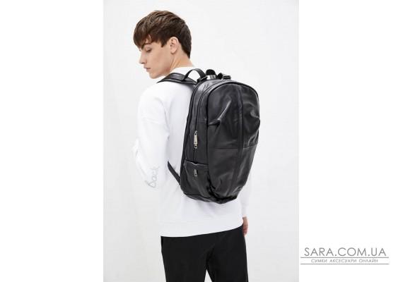 Чоловічий шкіряний міської рюкзак TARWA GA-7340-3md чорний