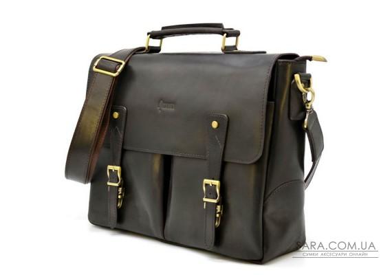 Діловий чоловічий портфель з натуральної шкіри RDС-3960-4lx TARWA темно-коричневий