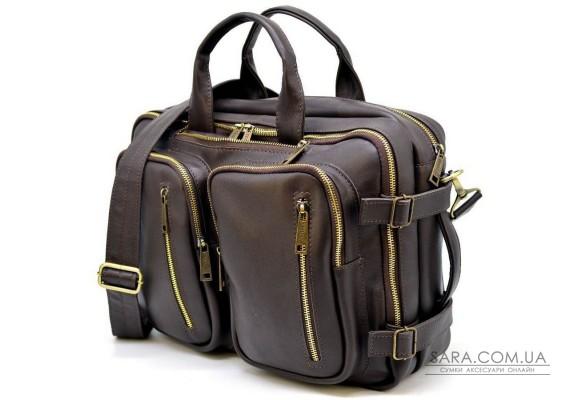 Чоловіча шкіряна сумка-рюкзак GC-7014-3md TARWA