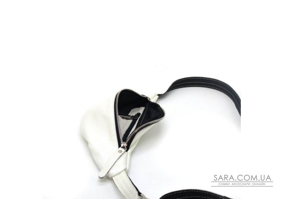 Женская белая маленькая напоясная сумка из натуральной кожи G1-3004-4lx TARWA