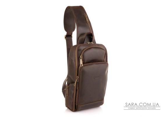 Шкіряний рюкзак на одне плече, рюкзак-слінг TARWA RC-0910-4lx