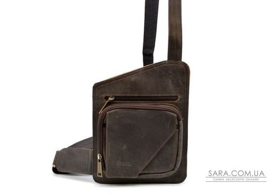 Шкіряний рюкзак слінг на одне плече, кобура TARWA RCv-232-3md