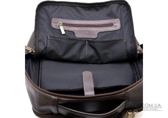 Шкіряний чоловічий рюкзак коричневий TARWA GC-7280-3md