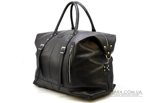 Велика дорожня сумка FA-8310-4lx з натуральної шкіри флотар, чорна