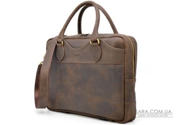 Ділова чоловіча сумка з натуральної шкіри Crazy Horse RC-8839-4lx TARWA