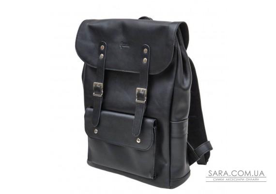 Шкіряний рюкзак чорний TARWA GA-9001-4lx