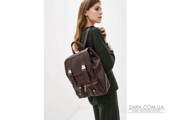 Шкіряний рюкзак зі шкіри флотар FC-3016-4lx TARWA темно-коричневий