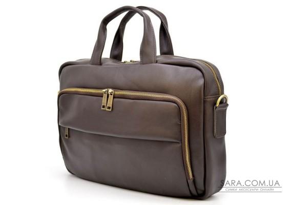 Шкіряна сумка для ділового чоловіка GC-7334-3md бренду TARWA