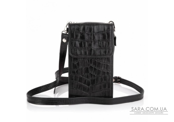 Шкіряна жіноча сумка-чохол REP1-2122-4lx TARWA, чорна