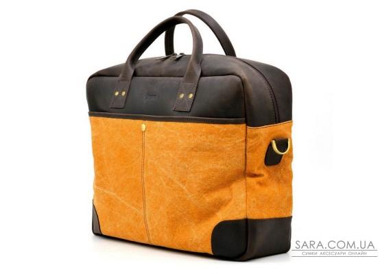 Большая сумка из парусины+кожи Crazy Horse RY-0458-4lx TARWA