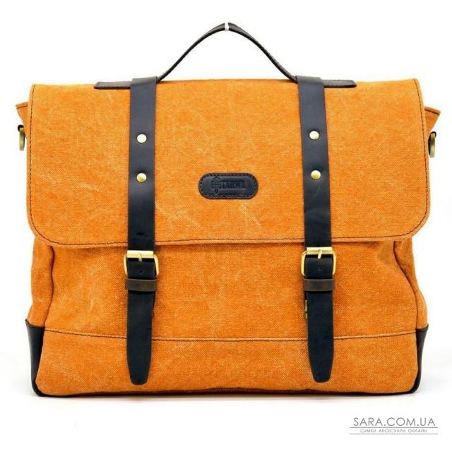 Сумка-портфель з парусини (канвас) і шкіри RY-0001-4lx бренд TARWA