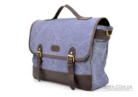 Портфель для чоловіків з тканини з шкіряними вставками RKj-7880-4lx TARWA