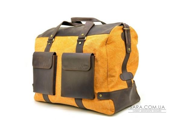 Дорожня красива сумка мікс тканини канвас і шкіри RY-4353-4lx TARWA