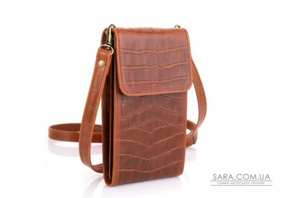 Женская кожаная сумка-чехол REP2-2122-4lx TARWA, рыжая