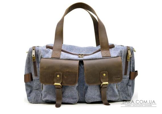 Дорожня сумка з парусини і кінської шкіри RKj-5915-4lx бренду TARWA
