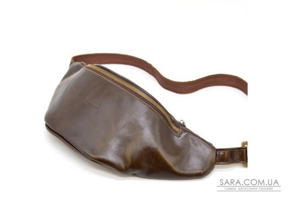 Сумка на пояс GC-3036-4lx из натуральной коричневой кожи от бренда Tarwa