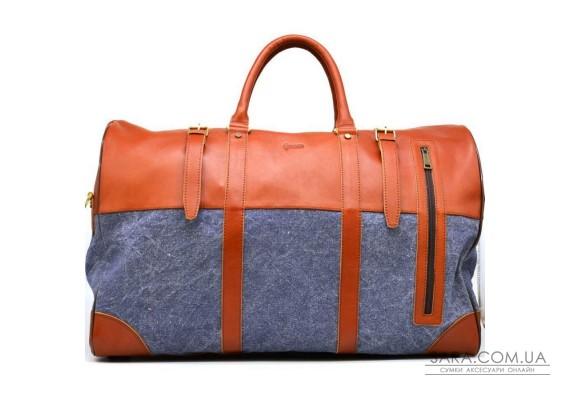 Велика дорожня сумка зі шкіри та текстилю Canvas GB-1633-4lx TARWA