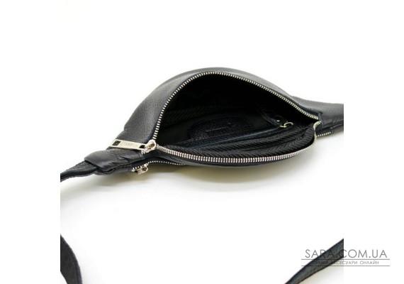 Напоясная сумка, уменьшенный вариант, черная из кожи флотар, FA-3034-4lx TARWA