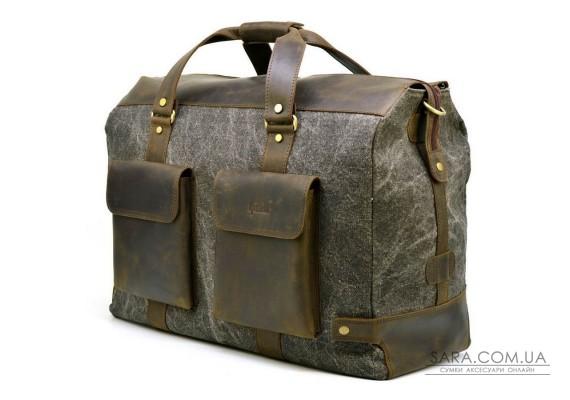 Дорожня стильна сумка парусина + шкіра RG-4353-4lx TARWA
