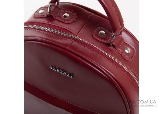 Сумка Женская Рюкзак кожа ALEX RAI 03-01 8715 dark-red Podium