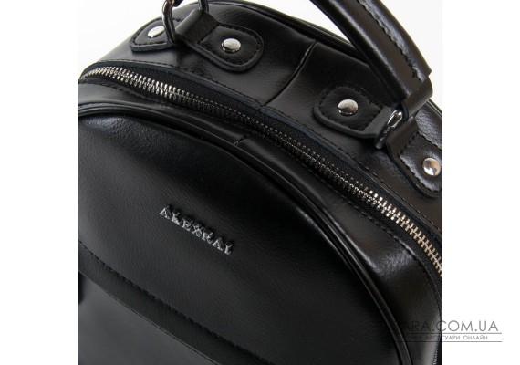 Сумка Женская Рюкзак кожа ALEX RAI 03-01 8715 black Podium