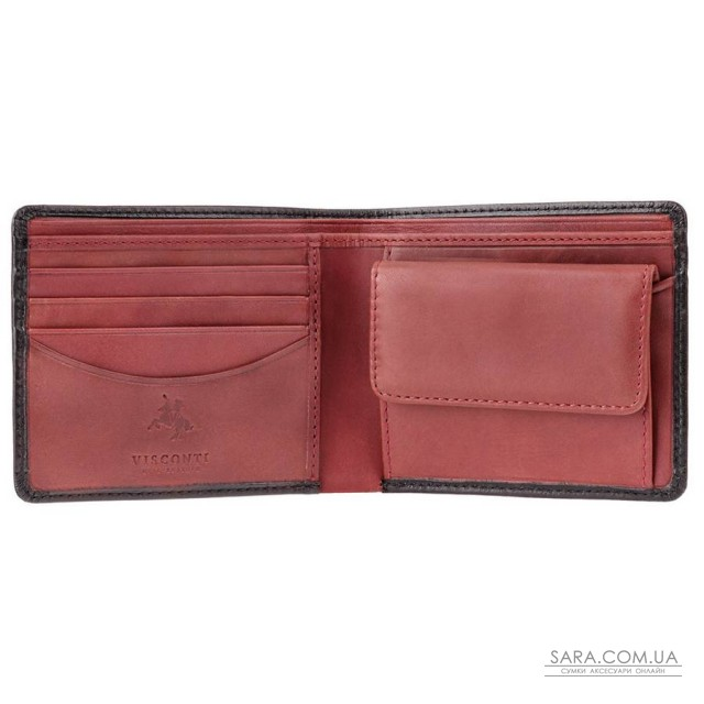 Гаманець чоловічий Visconti TR30 Raffle c RFID (Black Red)