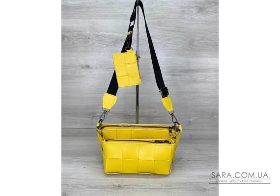 Жіноча сумка «Саллі» комплект 3 в 1 жовта WeLassie