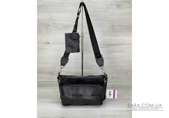 Жіноча сумка «Саллі» комплект 3 в 1 чорна WeLassie