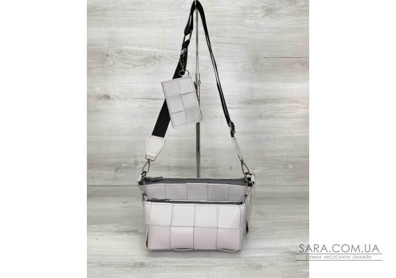 Женская сумка «Салли» комплект 3 в 1 серая WeLassie