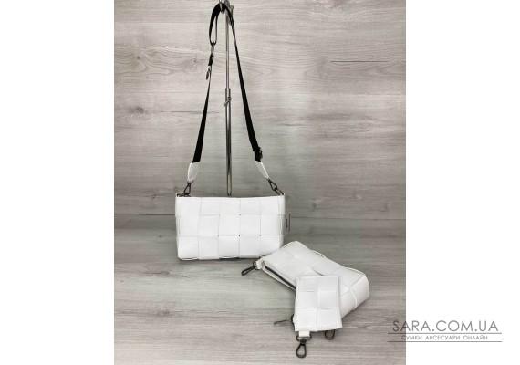 Женская сумка «Салли» комплект 3 в 1 белая WeLassie