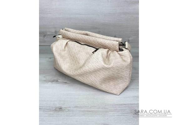 Жіноча сумка «Vivian» бежева плетена WeLassie