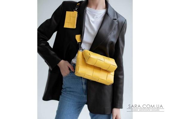 Женская сумка «Салли» комплект 3 в 1 желтая WeLassie