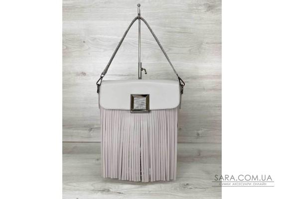 Женская сумка с бахромой «Ариэль» серая WeLassie