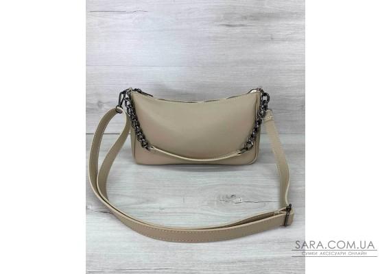 Жіноча сумка «Місяць» бежева WeLassie