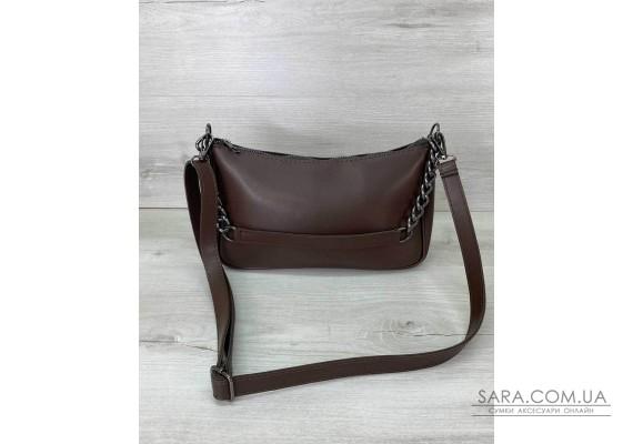 Женская сумка «Луна» шоколадная WeLassie