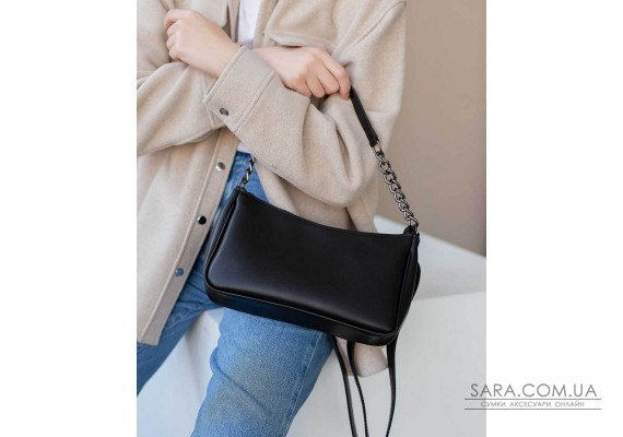 Жіноча сумка «Місяць» чорна WeLassie