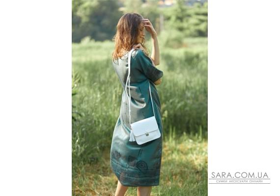 Шкіряна жіноча бохо-сумка Лілу біла - BN-BAG-3-light BlankNote