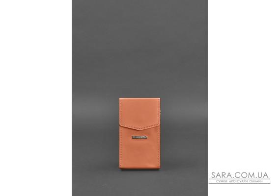 Вертикальна жіноча шкіряна сумка Mini поясна / кроссбоді Живий корал - BN-BAG-38-1-living-coral BlankNote