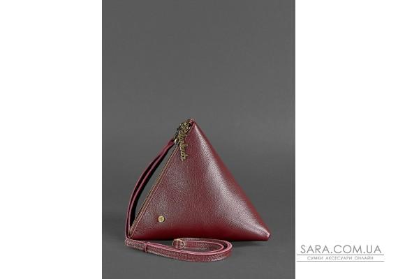 Кожаная женская сумка-косметичка Пирамида Марсала - BN-BAG-25-marsala BlankNote