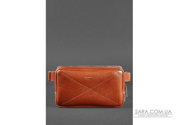 Шкіряна поясна сумка Dropbag Maxi світло-коричнева - BN-BAG-20-k BlankNote