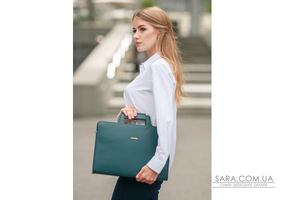 Жіноча шкіряна сумка для ноутбука і документів зелена - BN-BAG-36-malachite BlankNote