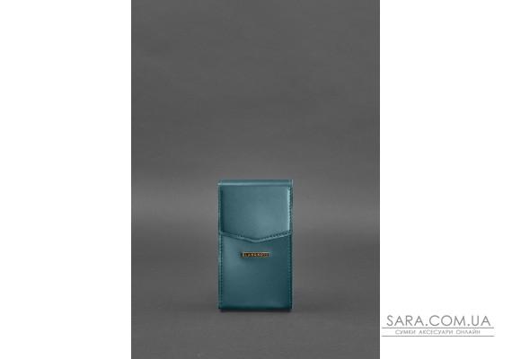 Вертикальна жіноча шкіряна сумка Mini поясна / кроссбоді зелена - BN-BAG-38-1-malachite BlankNote