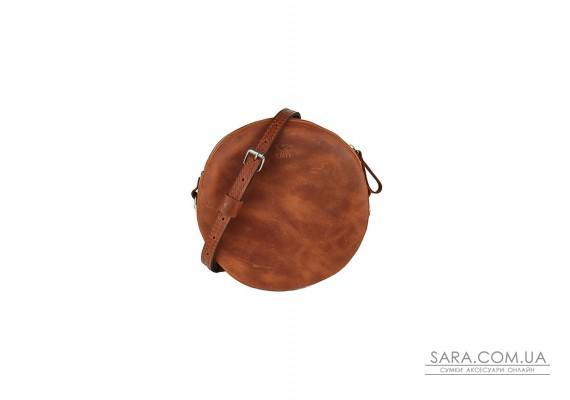 Шкіряна міні сумка Bubble коньячна вінтажна - TW-Babl-kon-crz The Wings