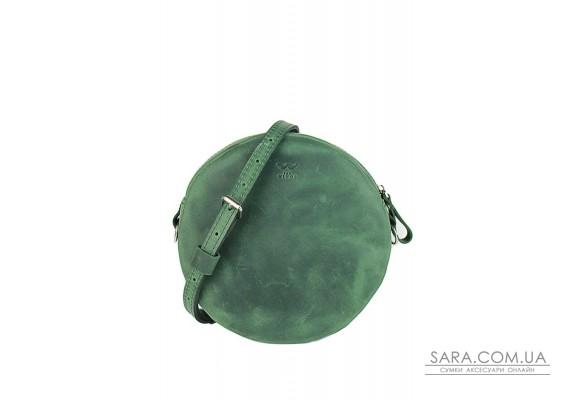 Шкіряна міні сумка Bubble зелена вінтажна - TW-Babl-green-crz The Wings