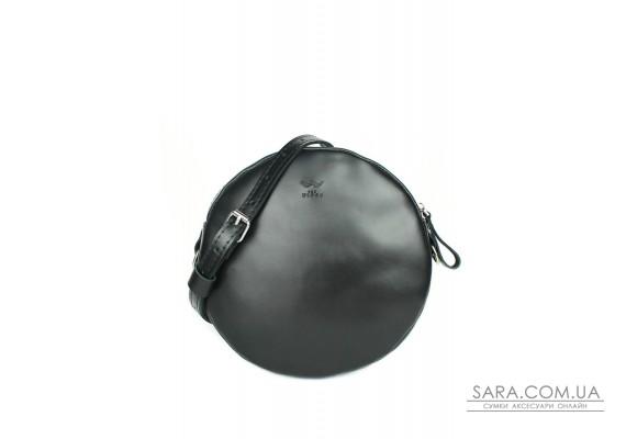 Шкіряна міні сумка Bubble чорна - TW-Babl-black-ksr The Wings